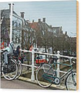 Bridge Across Canal - Amsterdam Wood Print