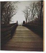Bridge Ahead Wood Print