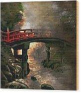 Bridge Wood Print by Andrzej Szczerski