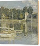 Bridge At Argenteuil Wood Print