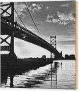 Bridge At Dawn Wood Print
