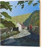 Bridge At Froggatt Wood Print by Kenneth North