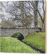 Bridge At Huntly Castle - 1 Wood Print