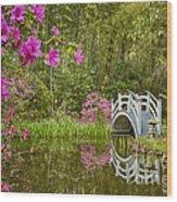 Bridge At Magnolia Plantation Wood Print