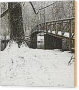 Bridge At Old Mine Park Wood Print
