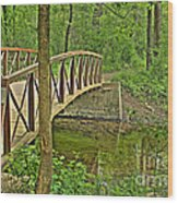 Bridge At River Bend Wood Print