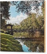 Bridge At Sawgrass Park Wood Print