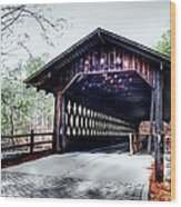 Bridge At Stone Mountain Wood Print