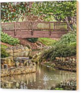 Bridge At Shelton Vineyards Wood Print