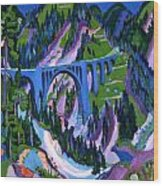 Bridge At Wiesen Wood Print