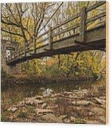 Bridge Between Seasons Wood Print