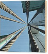 Bridge Cables Wood Print by Kenneth Summers