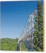 Bridge Connecting Oregon And Washington Wood Print
