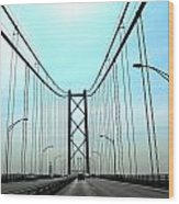 Bridge Crossing Wood Print
