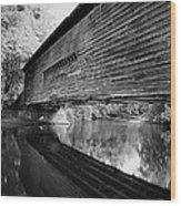 Bridge In Black And White Wood Print