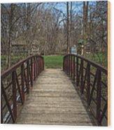 Bridge In Deep River County Park Northwest Indiana Wood Print