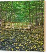 Bridge In Gosnell Big Woods Wood Print