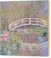 Bridge In Monet's Garden Wood Print