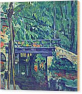 Bridge In The Forest By Cezanne Wood Print