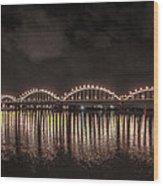 Bridge Lights Wood Print