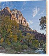 Bridge Mountain Wood Print