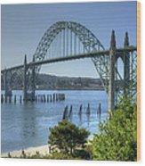 Bridge Newport Or 1 B Wood Print