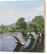 Bridge Of Flowers In Shelburne Wood Print