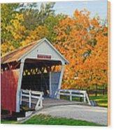 Bridge Of Madison County Wood Print