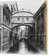 Bridge Of Sighs Pencil Wood Print