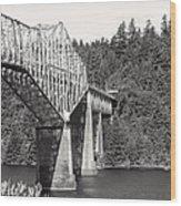 Bridge Of The Gods Wood Print