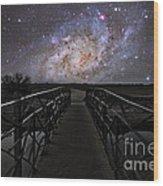 Bridge On A Distant Planet Wood Print