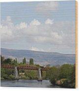 Bridge Over A River Wood Print