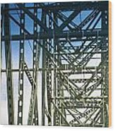 Bridge Over Astoria Wood Print