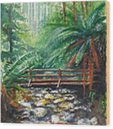 Bridge Over Badger Creek Wood Print