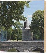 Bridge Over Chateau Moat Wood Print