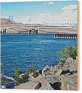 Bridge Over Columbia River At Umatilla-or  Wood Print