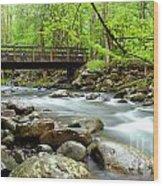 Bridge Over Little Pigeon River Wood Print