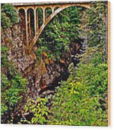 Bridge Over North Harbour River-nl Wood Print