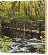 Bridge Over Oconaluftee Wood Print