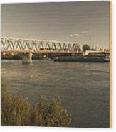 Bridge Over Rhein River Wood Print