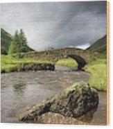 Bridge Over River, Scotland Wood Print