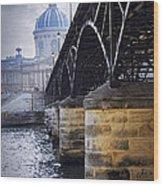 Bridge Over Seine In Paris Wood Print