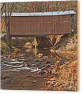 Bridge Over Smith River Wood Print