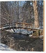 Bridge Over Snowy Valley Creek Wood Print