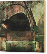 Bridge Over The Canal Wood Print