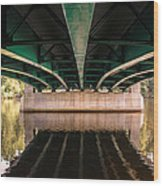 Bridge Over The Connecticut River Wood Print