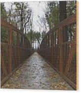 Bridge Over The Crik Wood Print