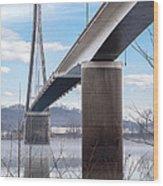 Bridge Over The Mist Wood Print
