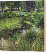 Bridge Over The Pond Wood Print