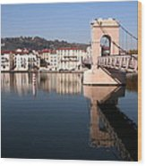 Bridge Over The Rhone River Wood Print